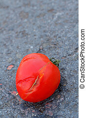 Rotten tomato rotten tomatoes under a magnifying glass on a rotten tomato ccuart Gallery