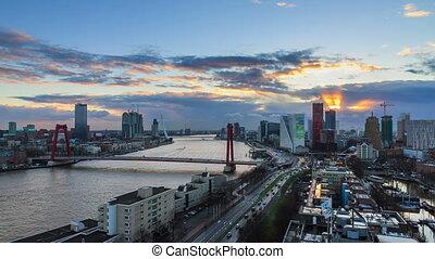Rotterdam 4K skyline timelapse