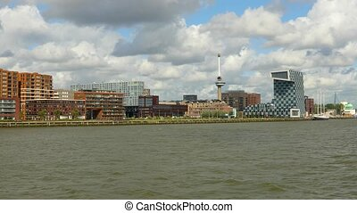 Rotterdam from the water - Rotterdam city center, arriving...
