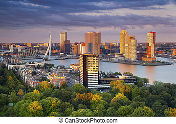 Rotterdam. - Image of Rotterdam, Netherlands during summer...