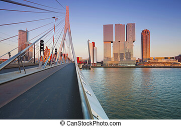 Rotterdam. - Image of Rotterdam, Netherlands during sunset...