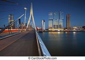 Rotterdam. - Image of Rotterdam, Netherlands during twilight...