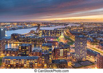 Rotterdam, Netherlands Skyline - Rotterdam, Netherlands, ...