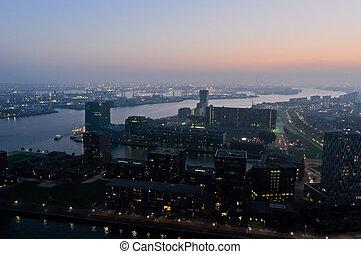 Rotterdam night view