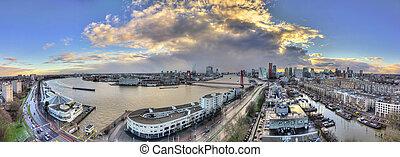 Rotterdam panorama - Beautiful 270 degree panorama of the...