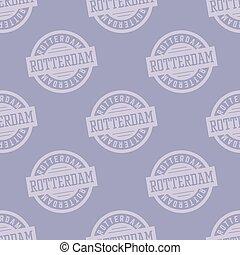 Rotterdam seamless pattern. Seamless badge pattern, backdrop...