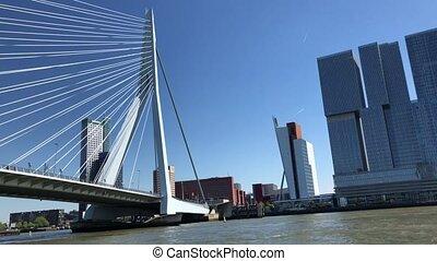 Rotterdam skyline, Netherlands - Rotterdam port modern...