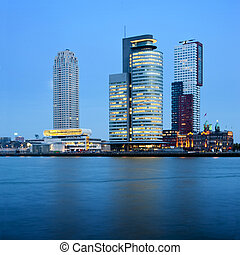 Rotterdam Skyscrapers - Three skyscrapers in the Rottedam...
