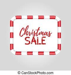 rotting, ram, försäljning, socker, vektor, jul