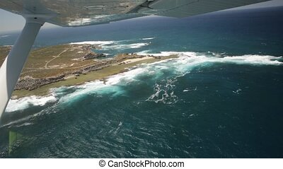 Rottnest Island West End - Aerial view of West End, the most...
