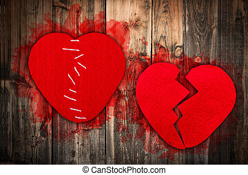 rotto, concetto, cuore