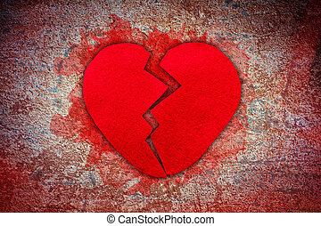 rotto, feltro, cuore