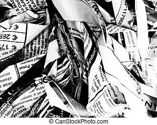 rotto, giornali, struttura