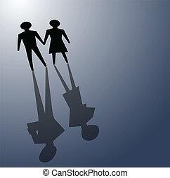 rotto, relationsip, divorzio, concetti