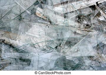 rotto, struttura, vetro