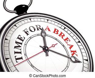 rottura, concetto, orologio tempo