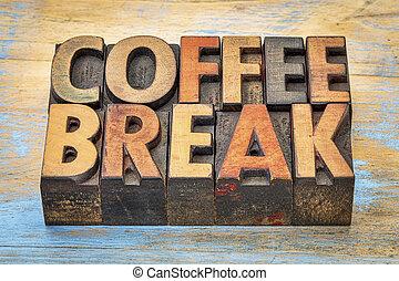 rottura, legno, bandiera, caffè, tipo