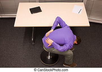 rottura, per, esercizio, in, lavoro ufficio