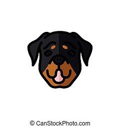 rottweiler dog pet mascot breed head character