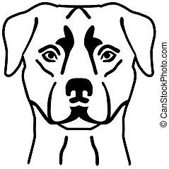 Rottweiler head silhouette black