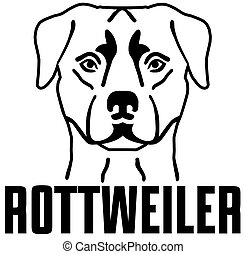 Rottweiler head with name