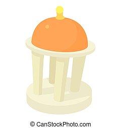 Rotunda icon, cartoon style