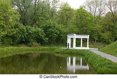 rotunda on shore of the lake
