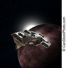 rotura, órbita, nave espacial