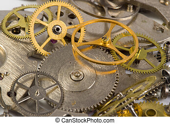rouage horloge, grand plan