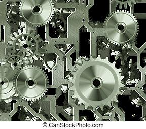 rouage horloge, mécanisme