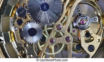 rouage horloge, mouvement