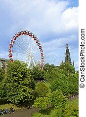 roue, été, grand, 2014, pendant, edimbourg