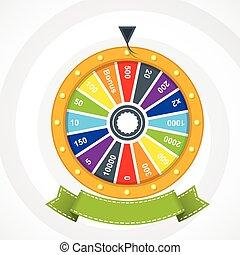 roue, affiche, fortune