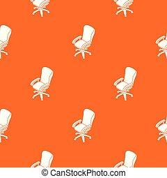 roue, bureau, modèle, vecteur, chaise orange