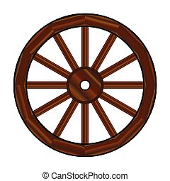 roue, chariot couvert