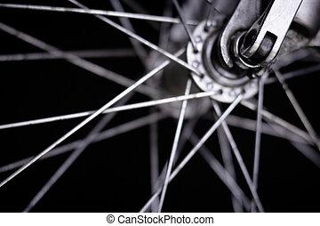 roue, de, a, vélo