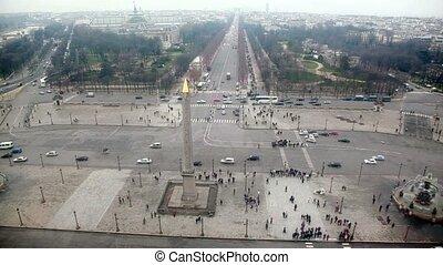 Roue De Paris descent, view from top on ob?lisque de Louxor