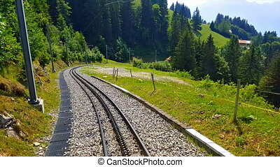 roue dentée, de, naye, rochers, suisse, équitation, ferroviaire