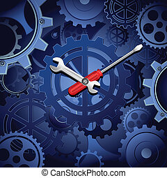 roue dentée, horloge