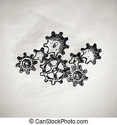 roue dentée, icône
