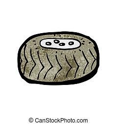 roue, dessin animé
