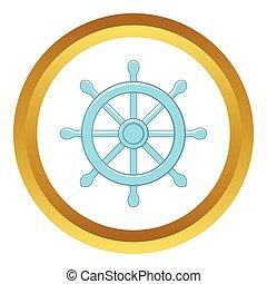 roue, dharma, vecteur, icône