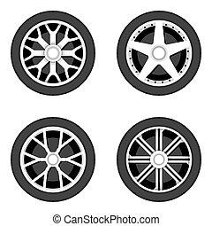 roue, disque, tyre.