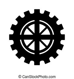 roue, engrenage, icône