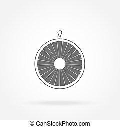 roue, fortune, icône