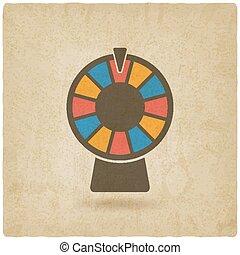 roue, fortune, vieux, fond