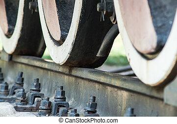 roue, frein, train