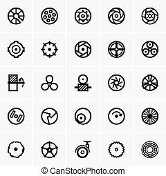 roue, icônes