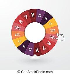 roue, indicateur, fortune