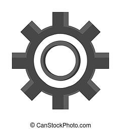 roue, industrie, industriel, symbole, dent
